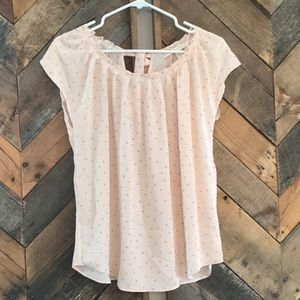 Soft Pink LC Lauren Conrad Top